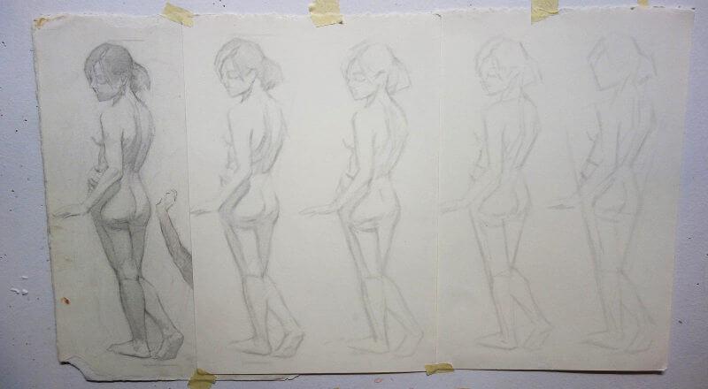 croquis dessin cours conservatoire