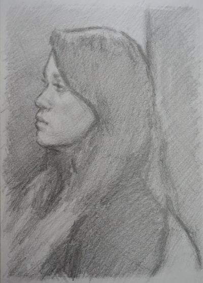 portrait dessin de fille