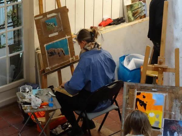 cours de peinture Hélène Legrand