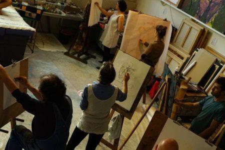 atelier de dessin d'après modèle vivant