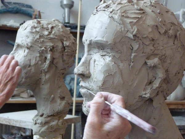 modelage d'une tête