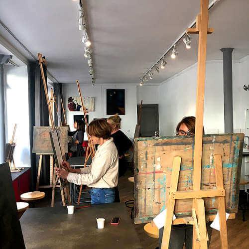 cours de dessin à l'atelier d'artistes de dupleix