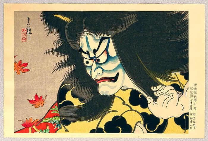 Estampe de théâtre japonais