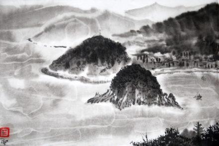 cours de peinture sumi-e débutants avec Ruben Fuentes