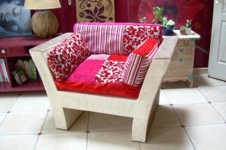 fauteuil du cours de meubles en carton