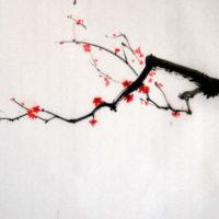 aquarelle japonaise branche