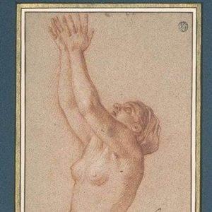 sanguine de femme nue