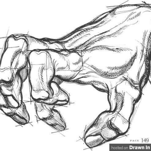 croquis de main