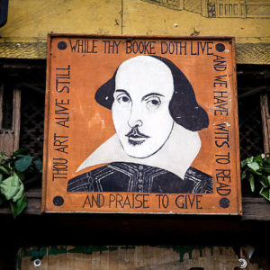 painting of shakespeare