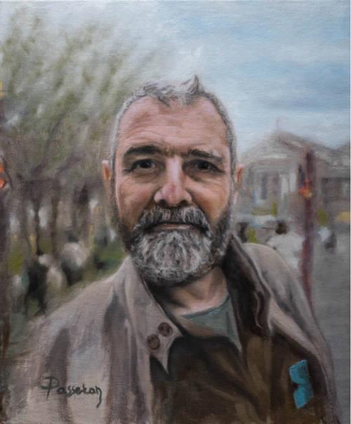 autoportrait d'homme poivre et sel
