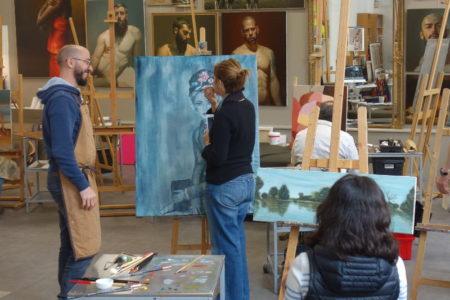 atelier de peinture d'edgar saillen à montreuil