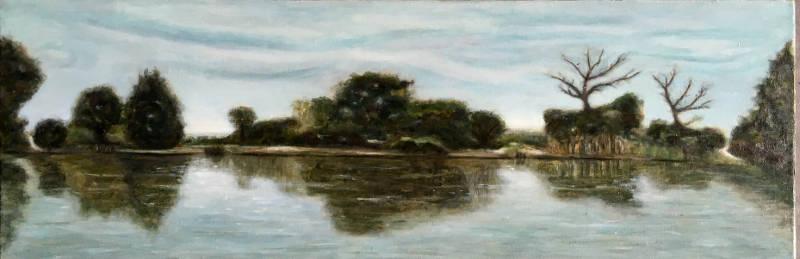peinture à l'huile d'un lac