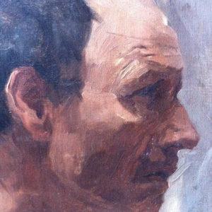 portrait d'homme peinture à l'huile