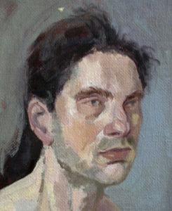 portrait à l'huile d'homme