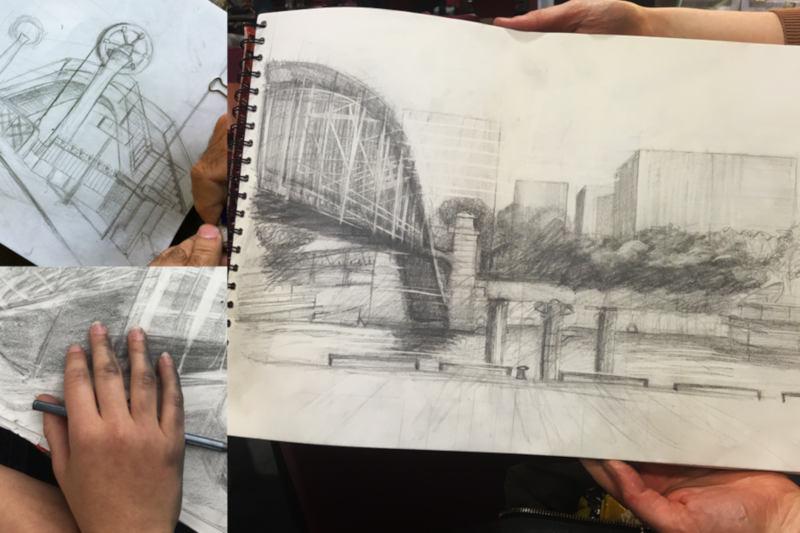 pont de paris crayonné