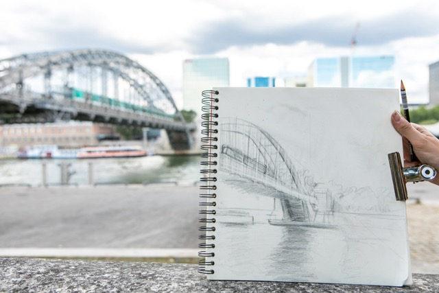 dessin du pont d'austerlitz