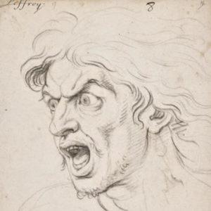 dessin d'homme en colère