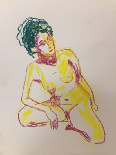 dessin femme nue couleur