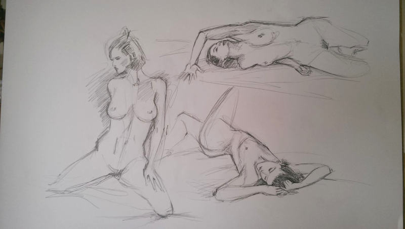 dessins de femme nue