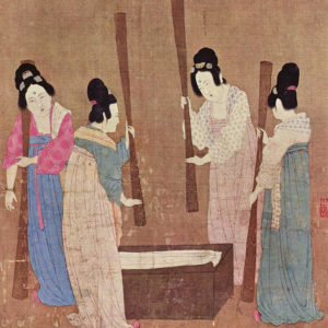 684px-Court_ladies_pounding_silk_from_a_painting_(捣练图)_by_Emperor_Huizonglight