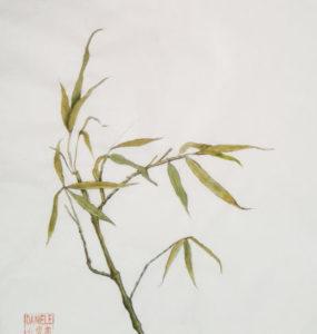 bambou en sumi-e