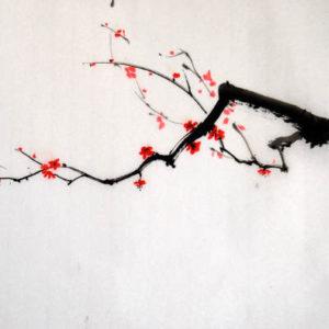 branche d'arbre encre de Chine