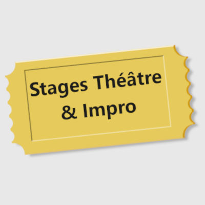 billet de stage de théâtre