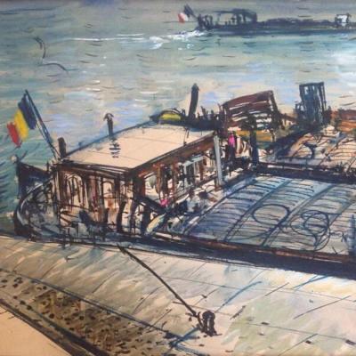 peinture de péniches parisiennes