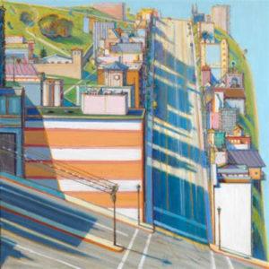 peinture de rue de san francisco de wayne thiebaud