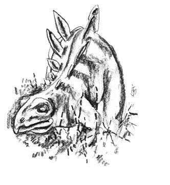 dessin du dinosaure du museum d'histoire naturelle