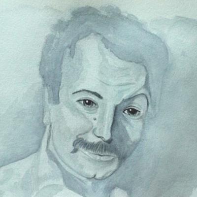 portrait d'homme au lavis sesl