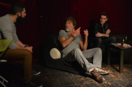 acteurs sur scène avec olivier marchal