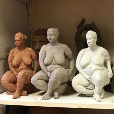 sculptures de femmes nues