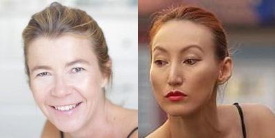 portraits de deux femmes