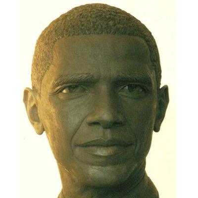 portrait modelage de barack obama