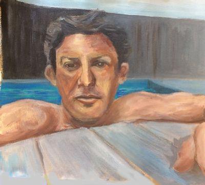 Portrait Modele Vivant Peinture Ou Dessin